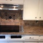 kitchen backsplash and countertop